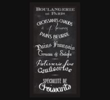 French Boulangerie chalkboard menu T-Shirt