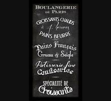 French Boulangerie chalkboard menu Unisex T-Shirt
