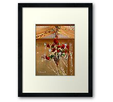 Rose Chandelier Framed Print