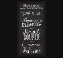 French restaurant chalkboard menu T-Shirt