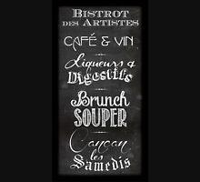 French restaurant chalkboard menu Unisex T-Shirt