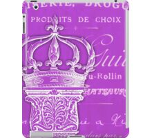 Antique French column and crown iPad Case/Skin