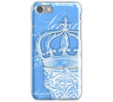 Vintage French column and crown iPhone Case/Skin