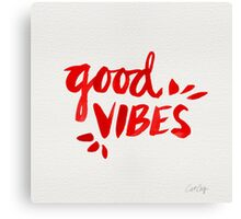 Good Vibes - Red Ink Canvas Print