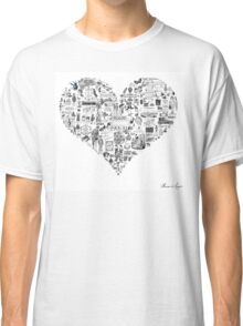 Vintage French heart Classic T-Shirt