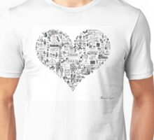 Vintage French heart Unisex T-Shirt