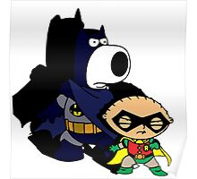 Batman and Robin Stewie and Brian Poster