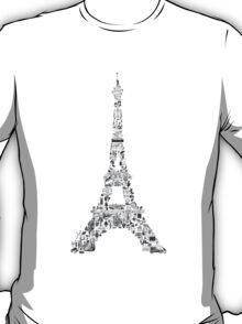 Vintage Eiffel Tower collage T-Shirt