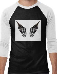 Black Angel wings Men's Baseball ¾ T-Shirt