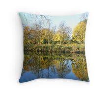 Rowntree Park In Autumn Throw Pillow