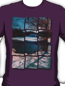 River across winter wonderland | landscape photography T-Shirt