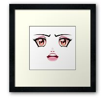 Unhappy Face 2 Framed Print