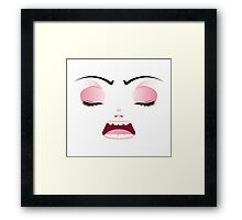 Unhappy Face 4 Framed Print