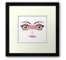 Unhappy Face 5 Framed Print
