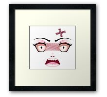 Unhappy Face 6 Framed Print