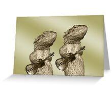 Golden Guitars Greeting Card