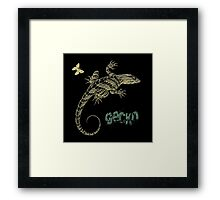Gecko and butterfly Framed Print