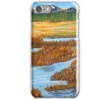 Marshlands landscape painting impressionism art iPhone Case/Skin