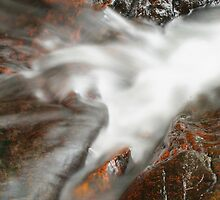 Cascades at top of falls - Lamington National Park by Peter South