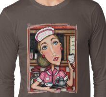 Retro Diner Diva T-Shirt Long Sleeve T-Shirt