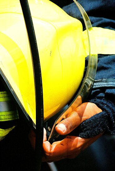 fireman with helmet by armanda