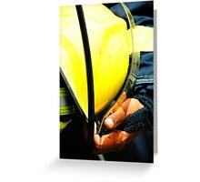 fireman with helmet Greeting Card