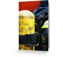fireman oxygen pack Greeting Card