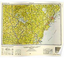 Maine USGS Historical Map Portland 330414 1949 250000 Poster