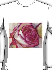 White Pink rose with petals 2 T-Shirt