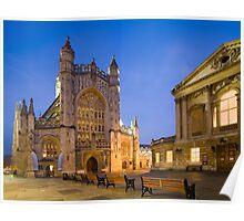 Bath Abbey at Twilight Poster