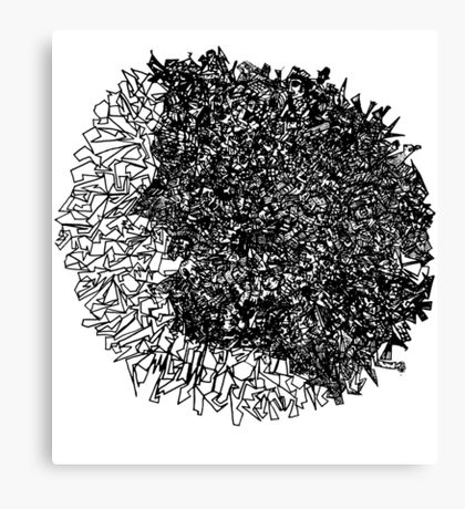 Scribble Head Clear Canvas Print