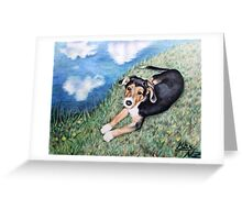 Puppy Max Greeting Card