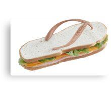 Sandwich Flip Flop Canvas Print