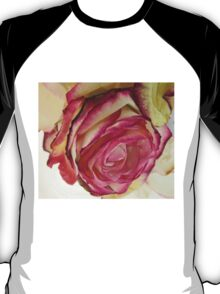 White Pink rose with petals 5 T-Shirt