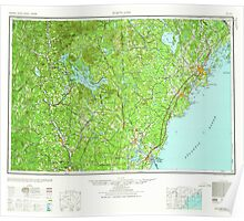 Maine USGS Historical Map Portland 330415 1959 250000 Poster