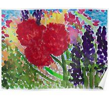 Impression Summer Garden Poster