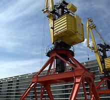 Crane in Puerto Madero 2 by Gabriel Skoropada