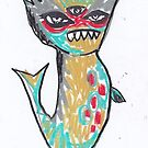 All Seeing Sea Monster by craftyhag