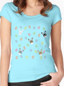 Easter Bunnies with Easter Eggs Women's Fitted Scoop T-Shirt