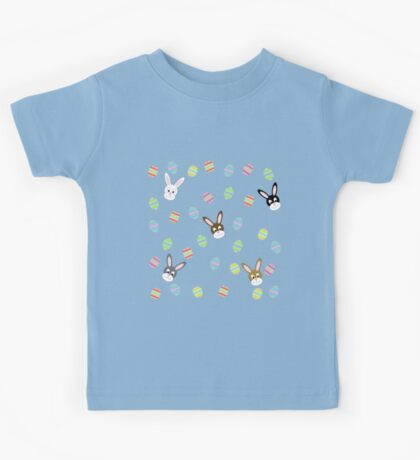 Easter Bunnies with Easter Eggs Kids Tee