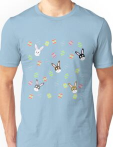 Easter Bunnies with Easter Eggs Unisex T-Shirt