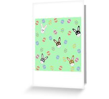 Easter Bunnies with Easter Eggs Greeting Card