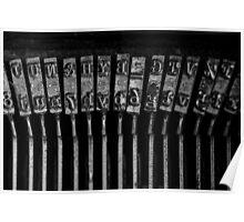 Old Typewriter Keys Poster