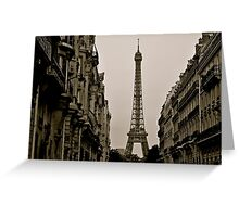 Paris, Step Back in Time Greeting Card