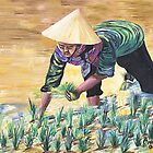 Planting rice by orna