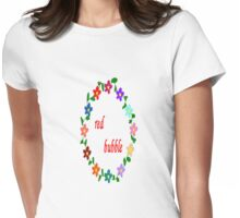 red bubble Womens Fitted T-Shirt