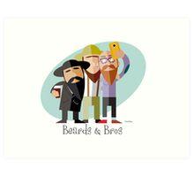 Beards & Bros Art Print