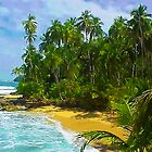 Beach close to Manzanilo, Caribbean, Costa Rica by Guy Tschiderer
