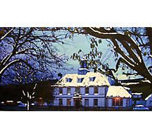 The Council Buildings & Sherrif Court, Peebles (digitally enhanced photograph) Photographic Print