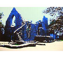 The Cross Kirk, Peebles(digitally enhanced photograph) Photographic Print
